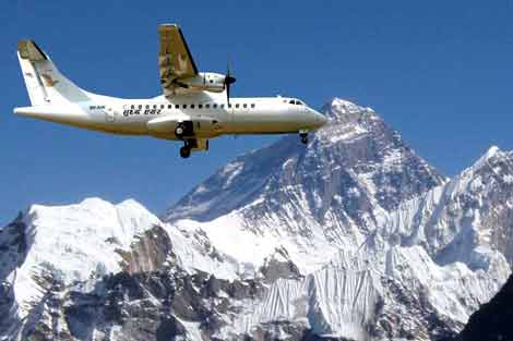 A flight that takes you to kissing distance of Mount Everest
