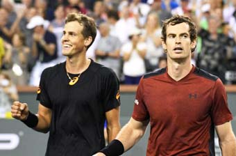 Canadian qualifier Pospisil knocks off top-ranked Murray