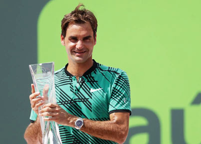Federer wins 3rd title in Miami, defeating Nadal