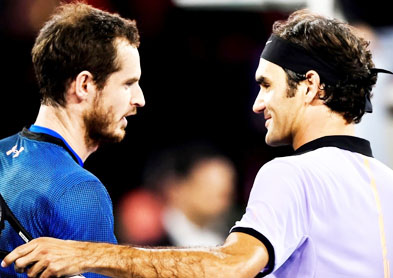 Federer beats Murray in charity match