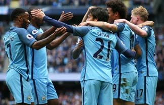 Manchester City thrash 10-man Liverpool 5-0