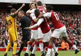 Arsenal beat Brighton 2-0 in EPL