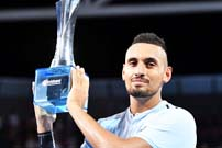 Tennis: Kyrgios wins Brisbane International